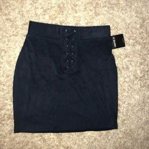 Women's suede skirt